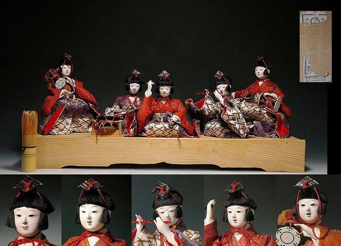 ひな人形/ 五世大木平蔵作 『五人囃子』 程度良好です!