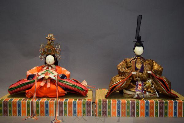 【双寿】 幻の雛人形・『次郎左衛門雛一対』・金襴・有職・宝冠・時代雛人形