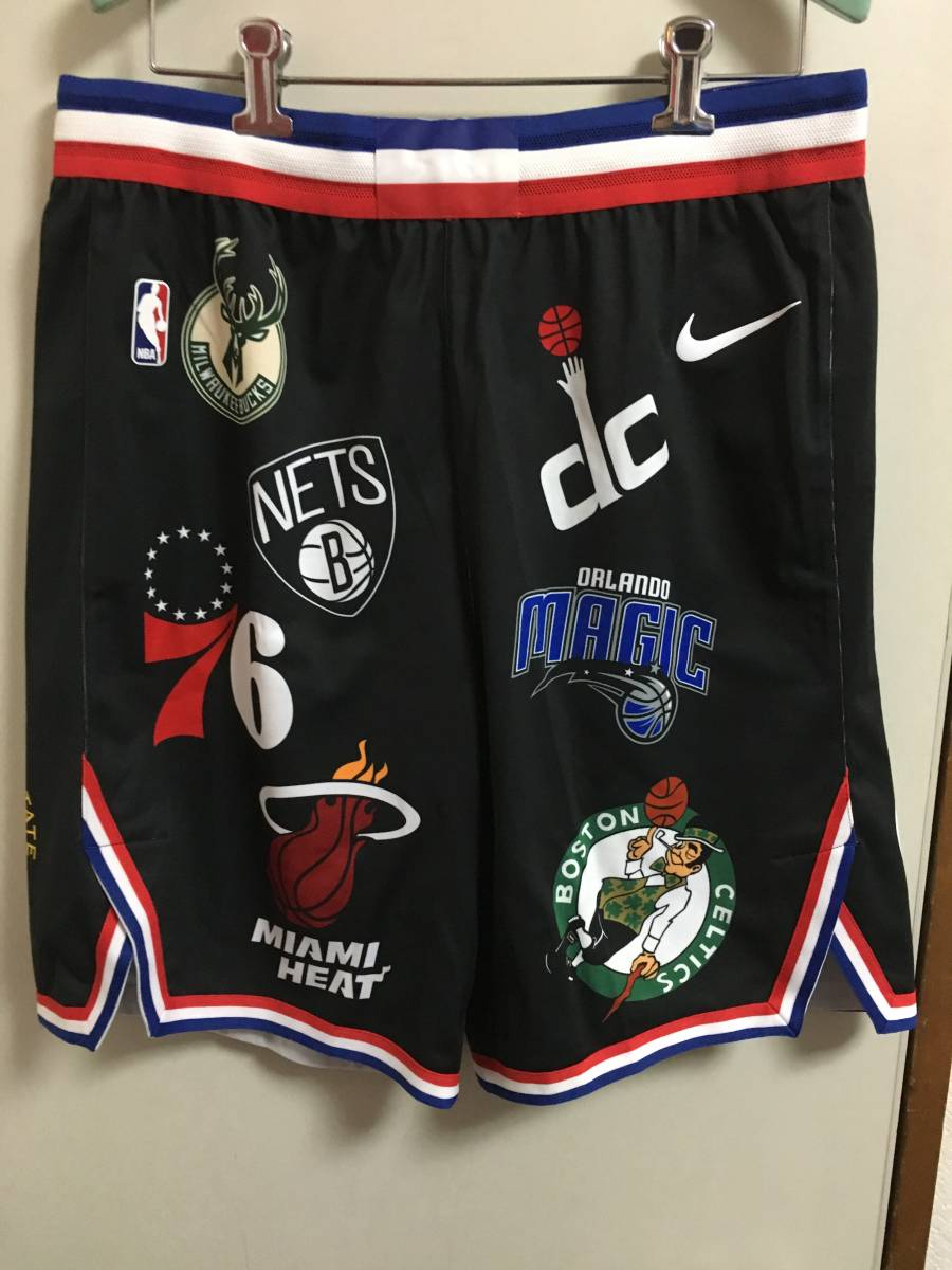 new goods online buy 18SS Supreme Nike NBA Teams Authentic short US L Box  logo shorts pants jersey black a01bf1ca1