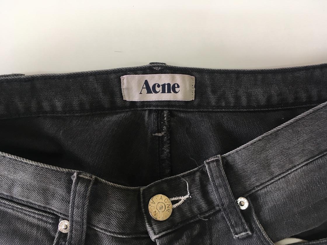 acne アクネ デニム グレー ブラック ストレート 30_画像3