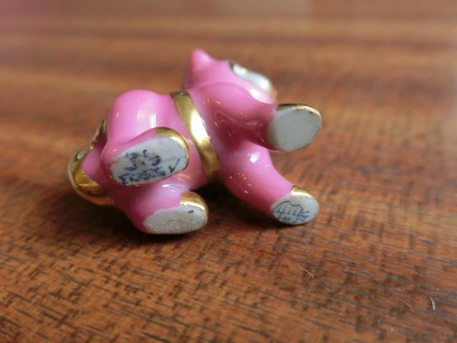 送料無料 ヘレンド HEREND ピンク&金 ピンク狛犬 ネックレス ペンダント トップ 中古 アンティーク_画像2