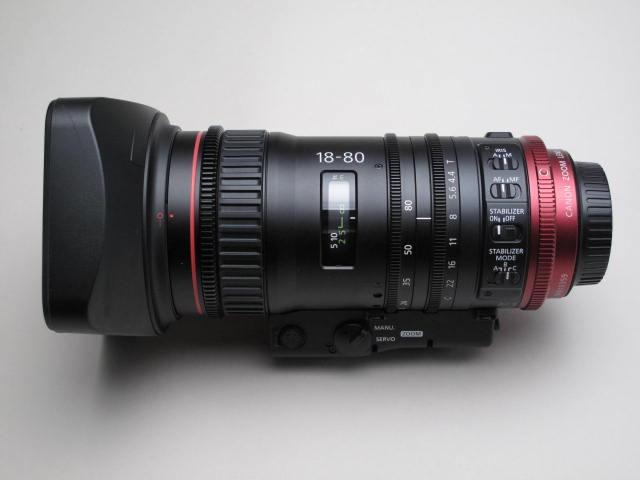 新品同様品   Canon シネマレンズ CN-E18-80mm T4.4 L IS KAS S + COMPACT-SERVO Le