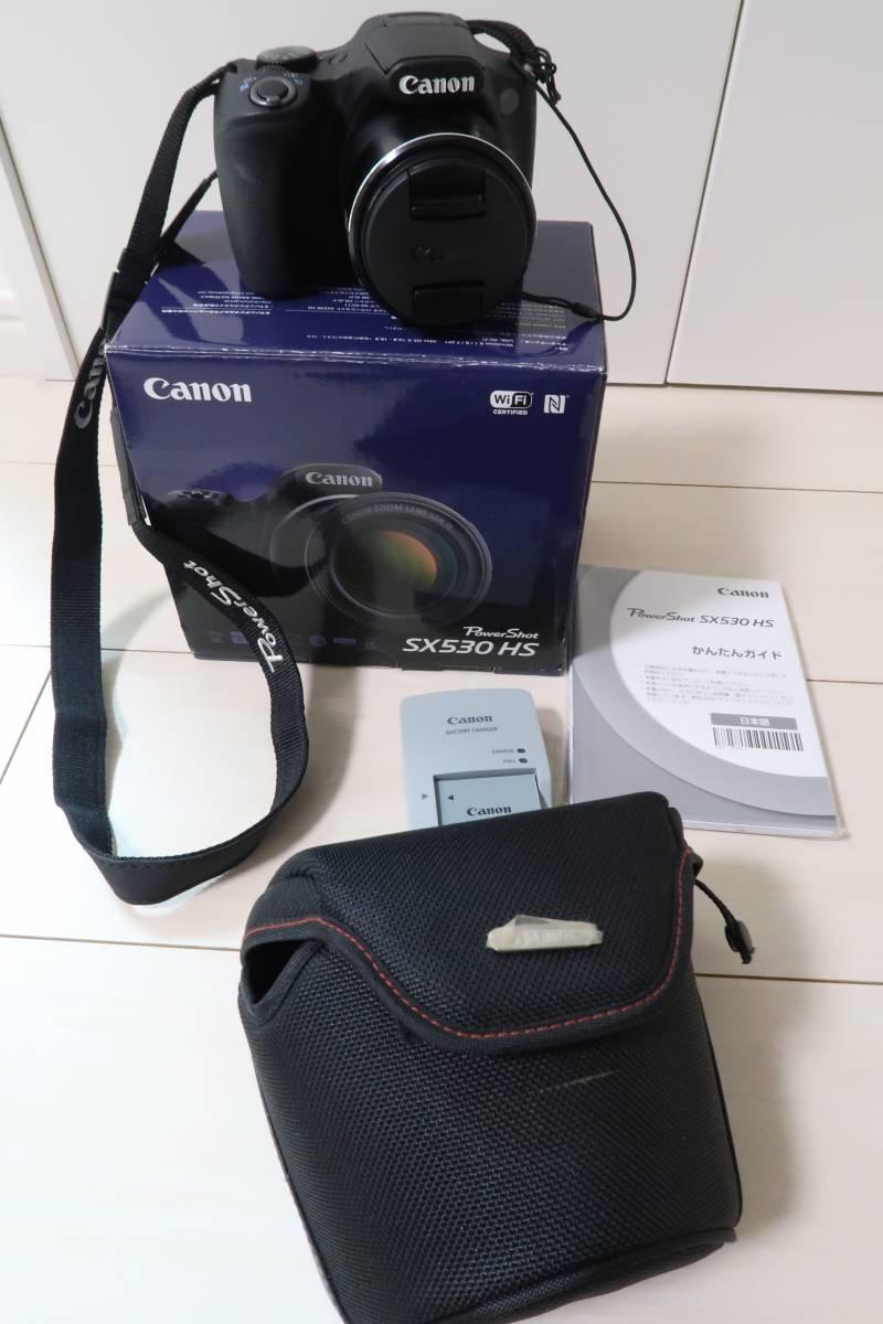 値下げ再出品¥1~ CANONキャノンPOWERSHOTパワーショットSX530HS50倍ズーム デジタルカメラ ケース付き入学式などにも