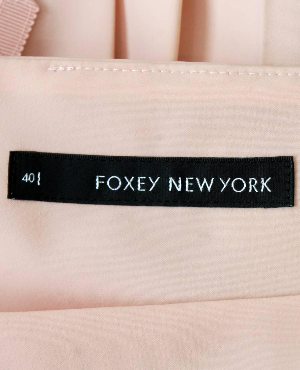FOXEY NEW YORK シフォン ワンピース ドレス ピンク フォクシーニューヨーク SIZE:40■0208E①_画像3