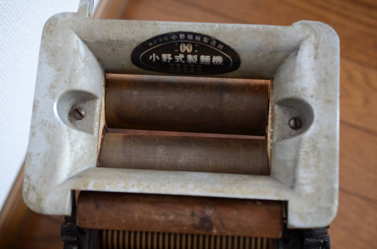 小野機械製作所【小野式製麺機 】両刃 2.2mm 手動製麺機 台座付 手作り蕎麦/うどん等_画像3