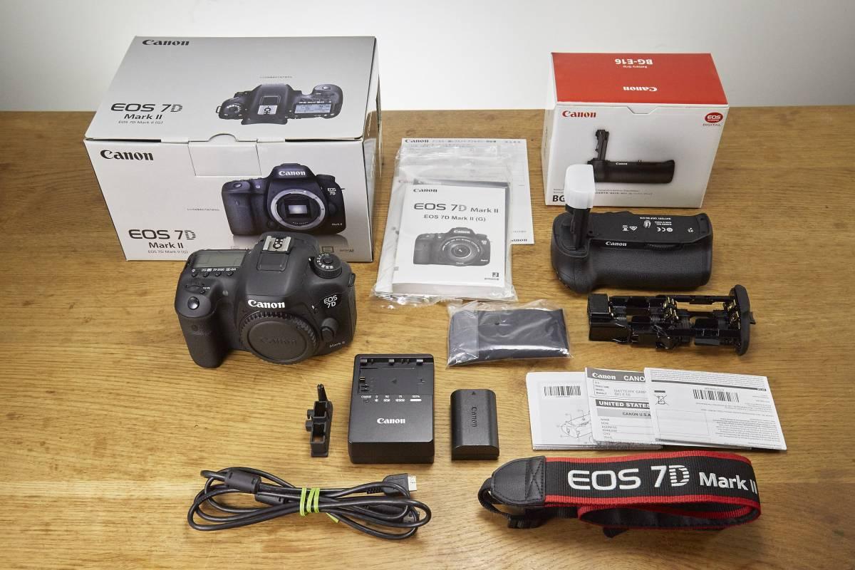 EOS 7D Mark IIボディ バッテリーグリップ BG-E16 中古美品