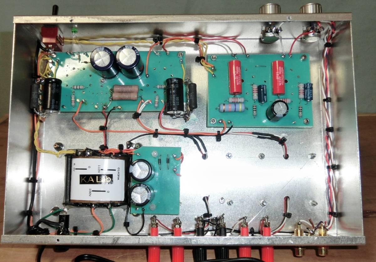 動作確認済 自作 「K.A Lab EL34(6CA7) Single Power Amplifier 」 組立完成品_画像6