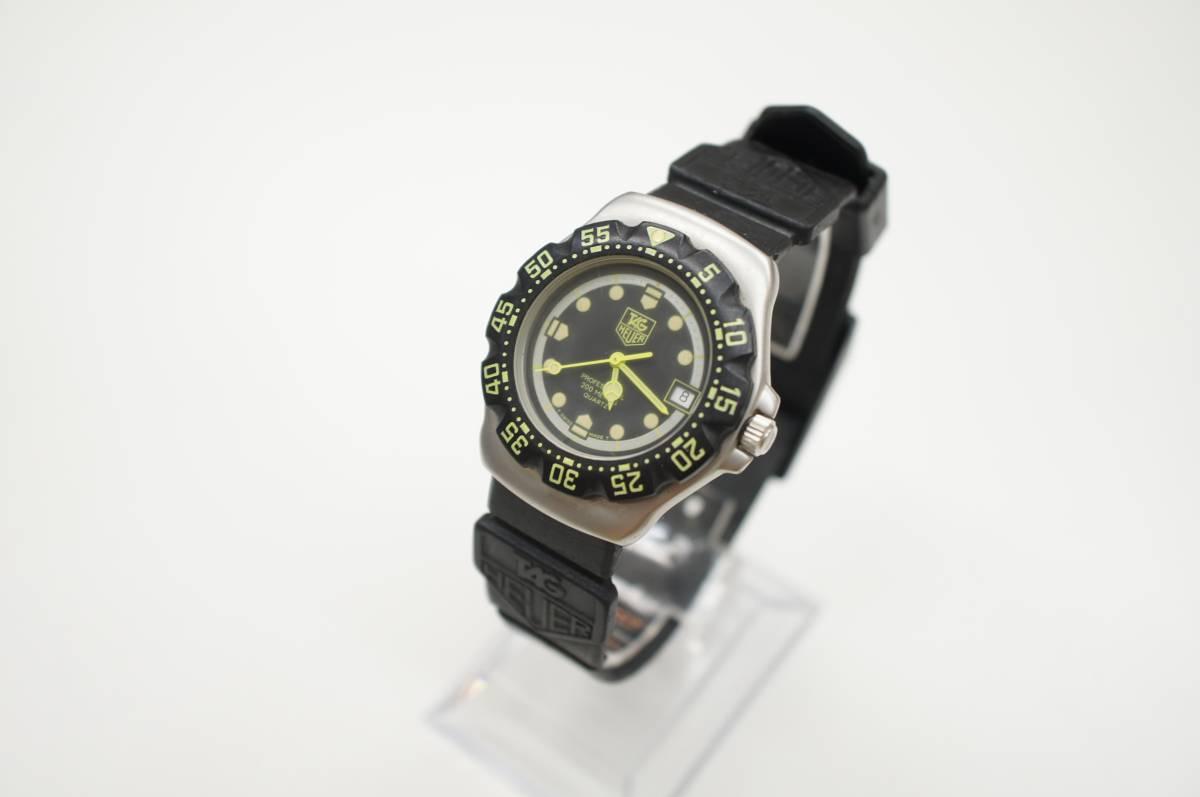 operation goods * TAG Heuer wristwatch WA1216 Professional 200 black ×  green quarts black × green