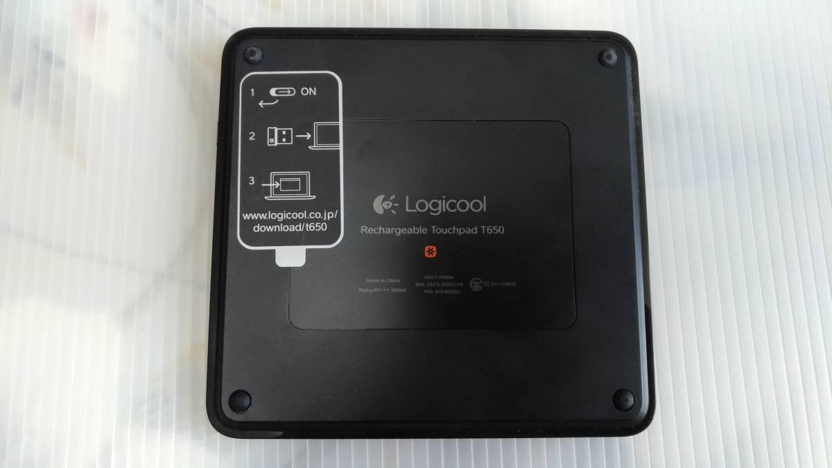 【美品】Logicool T650 ワイヤレス充電式タッチパッド ロジクール_画像3