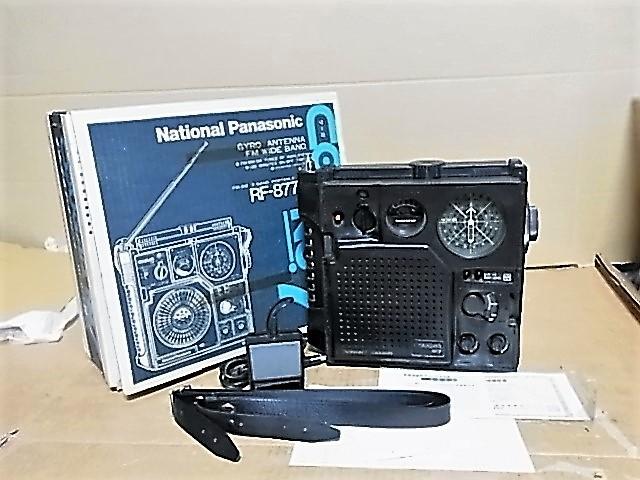 ワイドFM受信可 National Panasonic 松下電器産業 元箱付属品付 極上美品RF-877クーガNo.7BCLラジオ 18022550