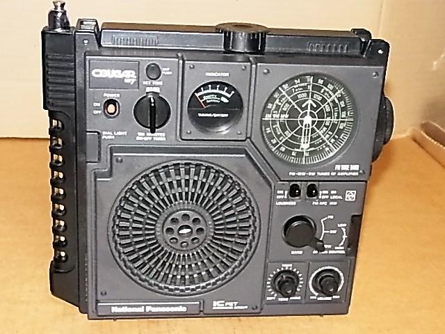 興味ある方にどうぞ 懐かしい形のラジオ、FM/MW/SW 3BAND National Panasonic クーガーNO.7♪ 《RF-877》 ラジオ完動良美品18031273_画像3