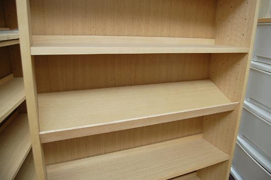 札幌市内近郊限定 無印良品 ハイタイプ収納棚 W80×D21×H212cm タモ材 ナチュラル 多目的棚 本棚 清田区_画像6