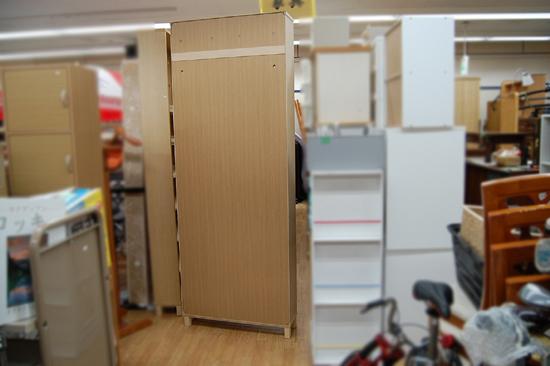 札幌市内近郊限定 無印良品 ハイタイプ収納棚 W80×D21×H212cm タモ材 ナチュラル 多目的棚 本棚 清田区_画像4