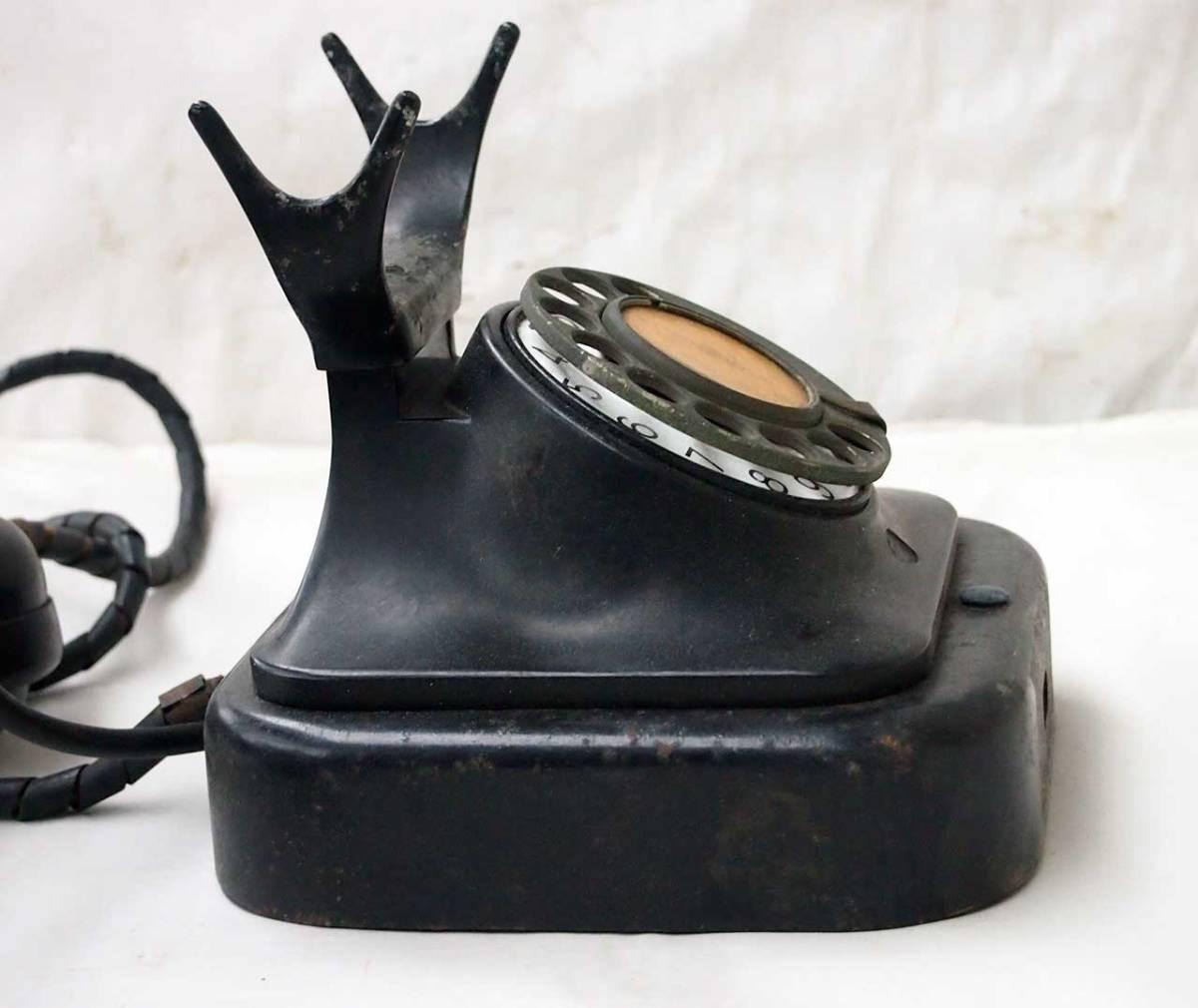 昭和11年 富士形3号電話機 黒電話機 動作品 サ05_画像3