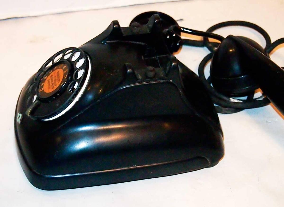 昭和26年 オリジナルダイヤル表示 4号 黒電話機 サ04_画像3
