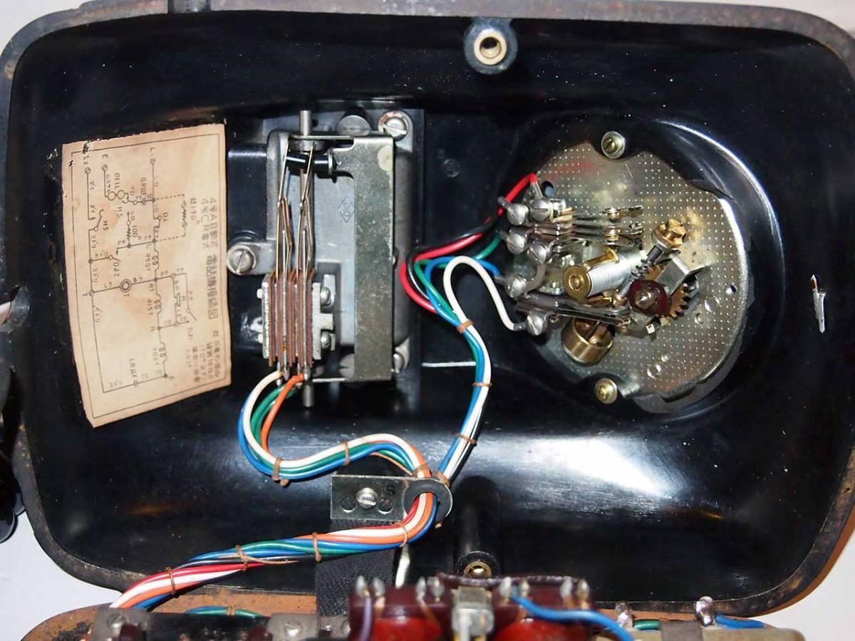 昭和26年 オリジナルダイヤル表示 4号 黒電話機 サ04_画像5