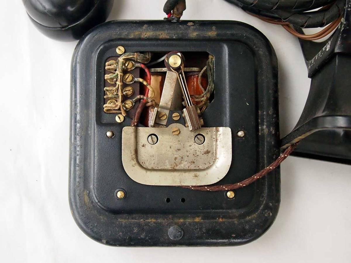 昭和11年 富士形3号電話機 黒電話機 動作品 サ05_画像6