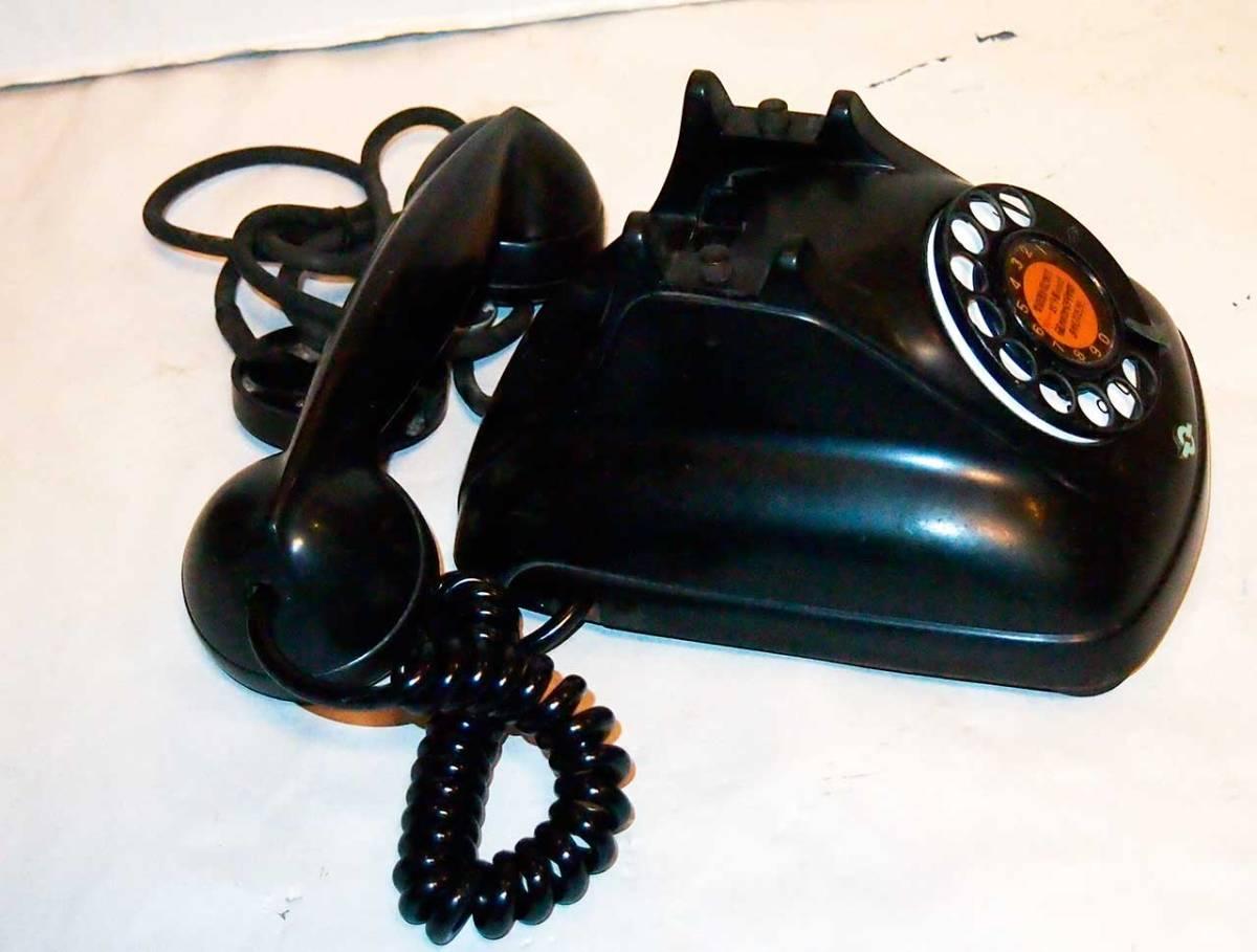昭和26年 オリジナルダイヤル表示 4号 黒電話機 サ04_画像2