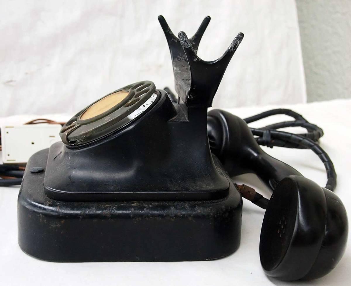 昭和11年 富士形3号電話機 黒電話機 動作品 サ05_画像4
