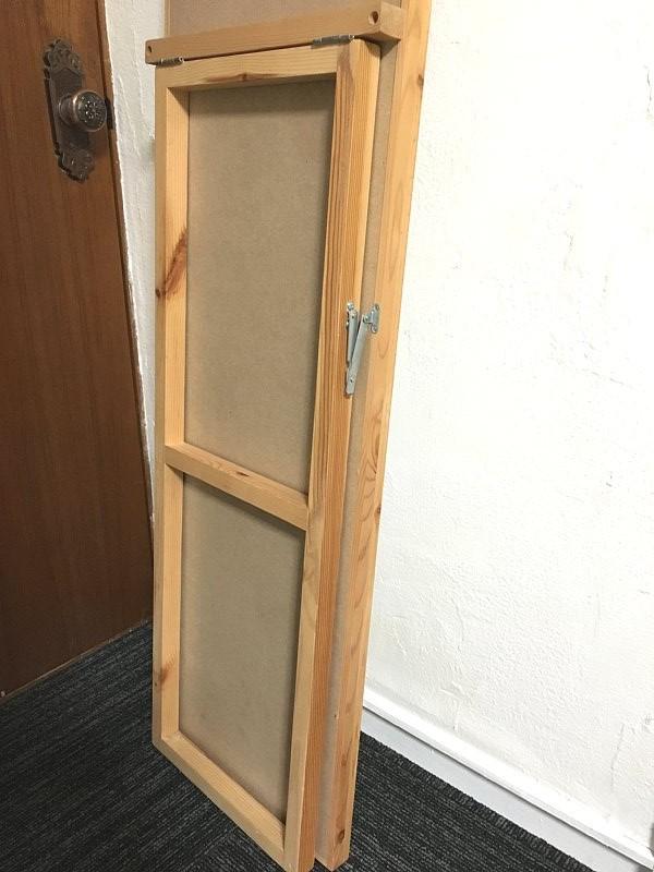 札幌限定 ☆ 無印良品 天然木 パイン材 大型 スタンドミラー 姿見 全身鏡 高