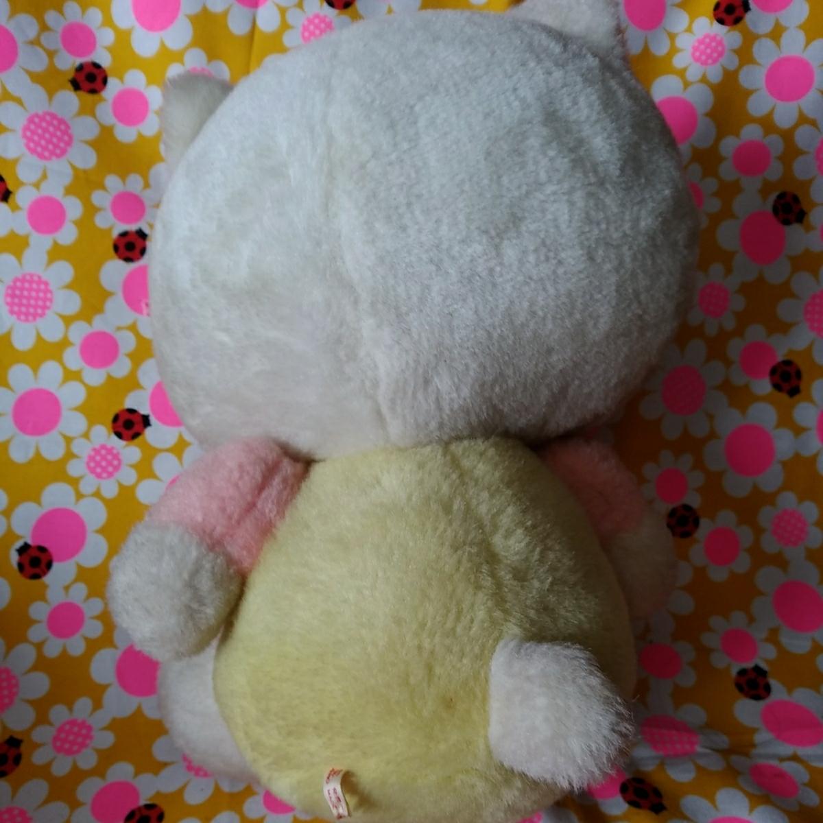 年代物 当時物 昭和 レトロ サンリオ キティ 希少 ぬいぐるみ 人形 30cm 難あり コレクション コレクター 日本製_画像3