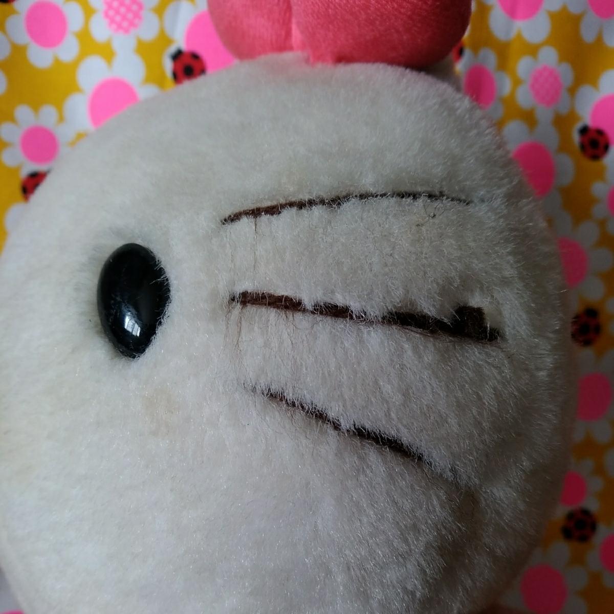 年代物 当時物 昭和 レトロ サンリオ キティ 希少 ぬいぐるみ 人形 30cm 難あり コレクション コレクター 日本製_画像9