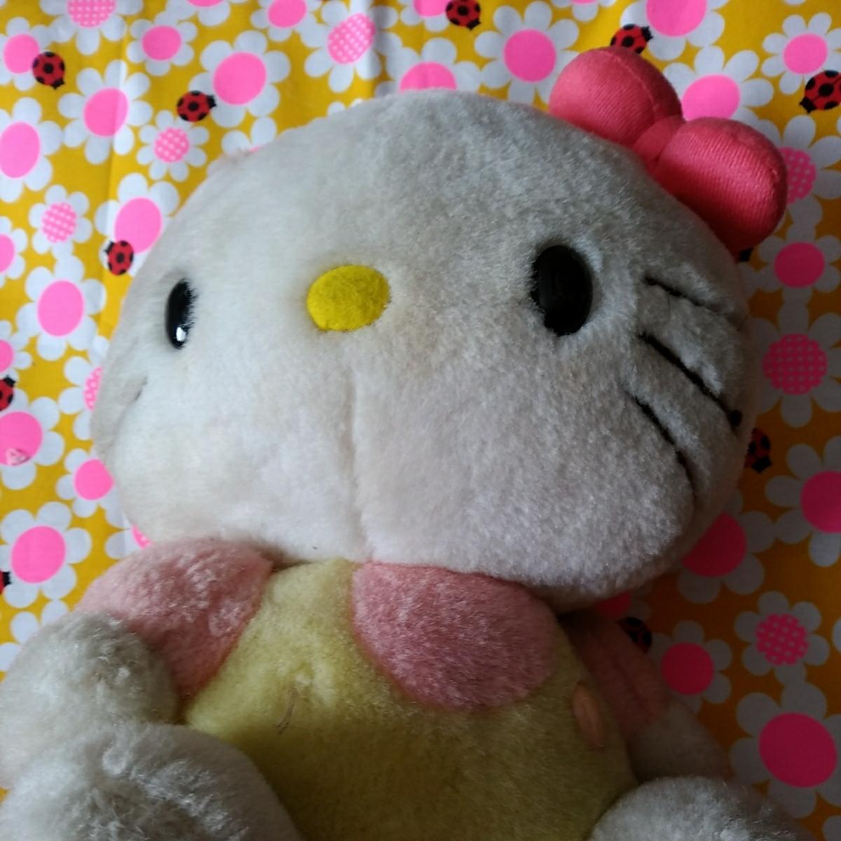 年代物 当時物 昭和 レトロ サンリオ キティ 希少 ぬいぐるみ 人形 30cm 難あり コレクション コレクター 日本製_画像2