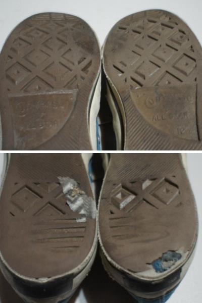 70s チャックテイラー コンバース 青 US12.5 31cm/ヴィンテージ オリジナル USA製_靴底ダメージ有り