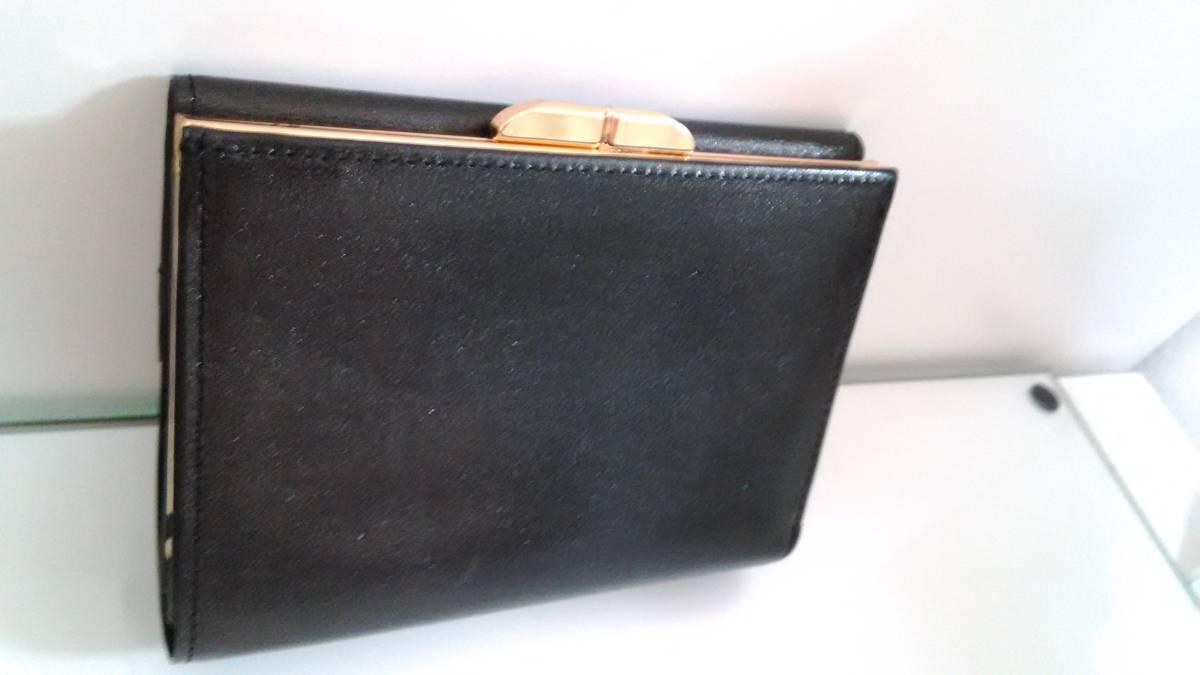 new style 61378 76caa ピエール カルダンがま口財布 ブラック