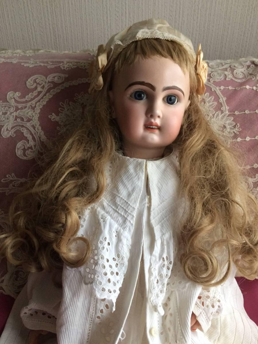 アンティークビスクドール JUMEAU ジュモー オープンマウス67㎝ まるで天使のように夢見る青い瞳...ノーブルな顔立ちの美しいお人形です_画像7