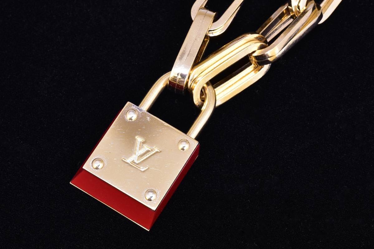 ルイヴィトン ブーグルドレイユ・ロックンロール ブレスレット カデナチャーム付 レッド 鍵 レア 美品 箱付 LOUIS VUITTON_画像5