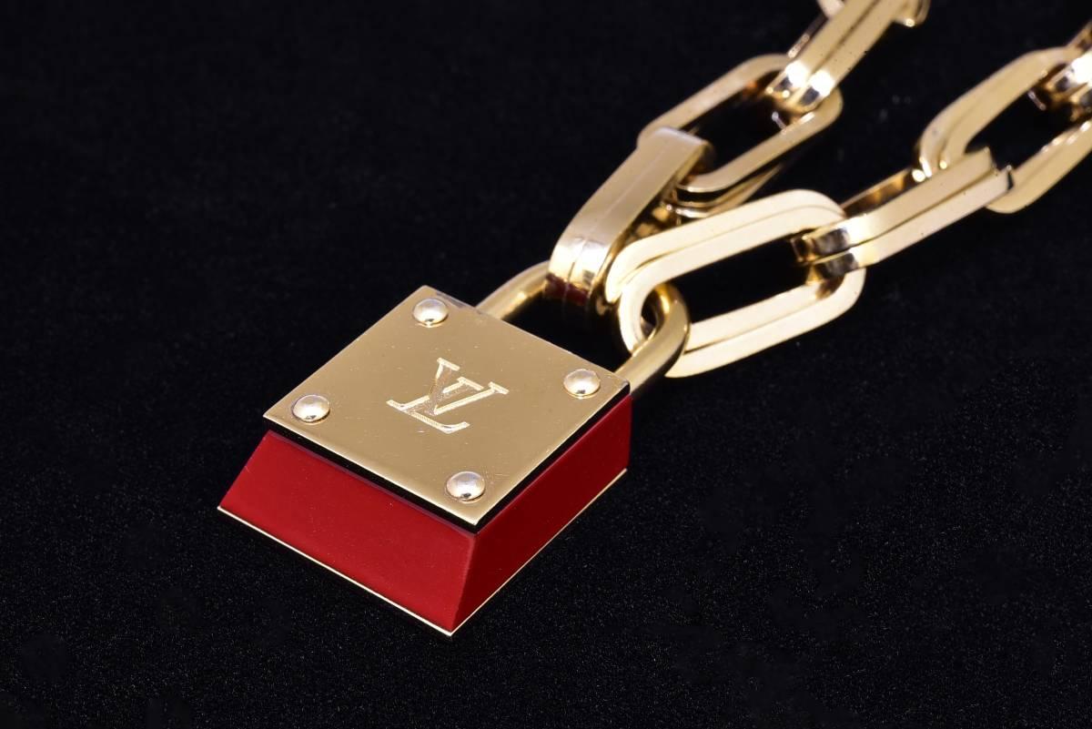ルイヴィトン ブーグルドレイユ・ロックンロール ブレスレット カデナチャーム付 レッド 鍵 レア 美品 箱付 LOUIS VUITTON_画像7