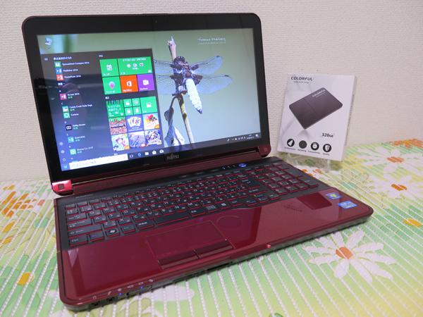 【高速Core i7(Sandy Bridge)★爆速新品SSD320GB】富士通 AH77/E レッド 最新Windows10