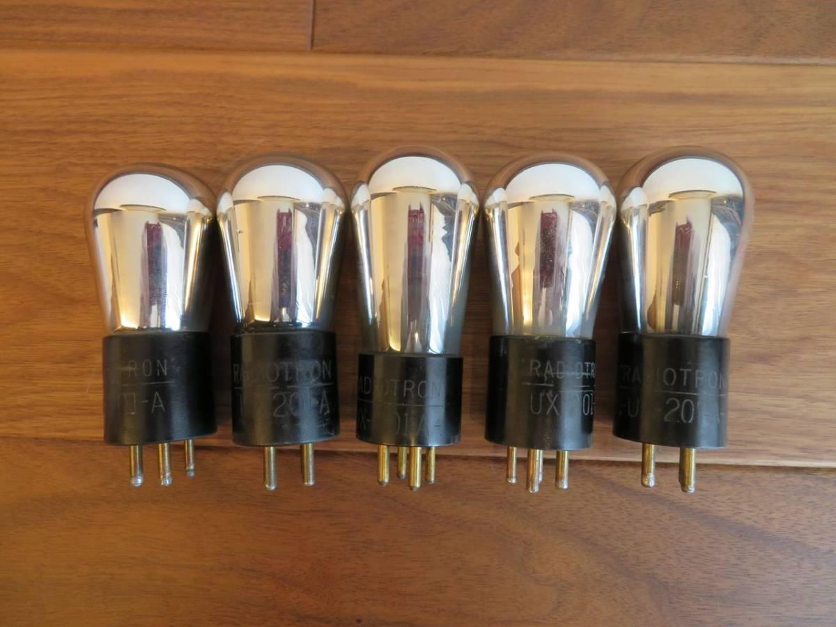 古典ラジオ用真空管 RCA UX201A 5本セット
