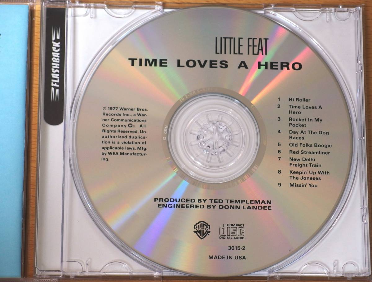 Little Feat リトル・フィート Time Loves A Hero 輸入盤CD中古美品 Red Streamliner