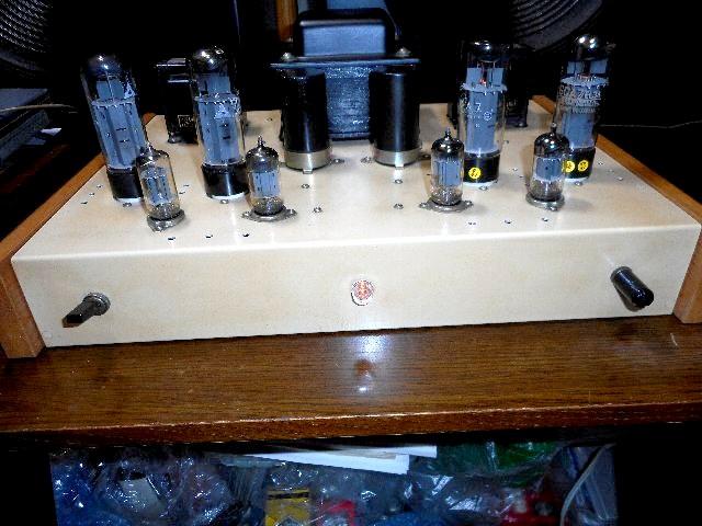 当時物 希少 ウイリアムソン回路 6CA7 三結PPアンプ 自作_画像2