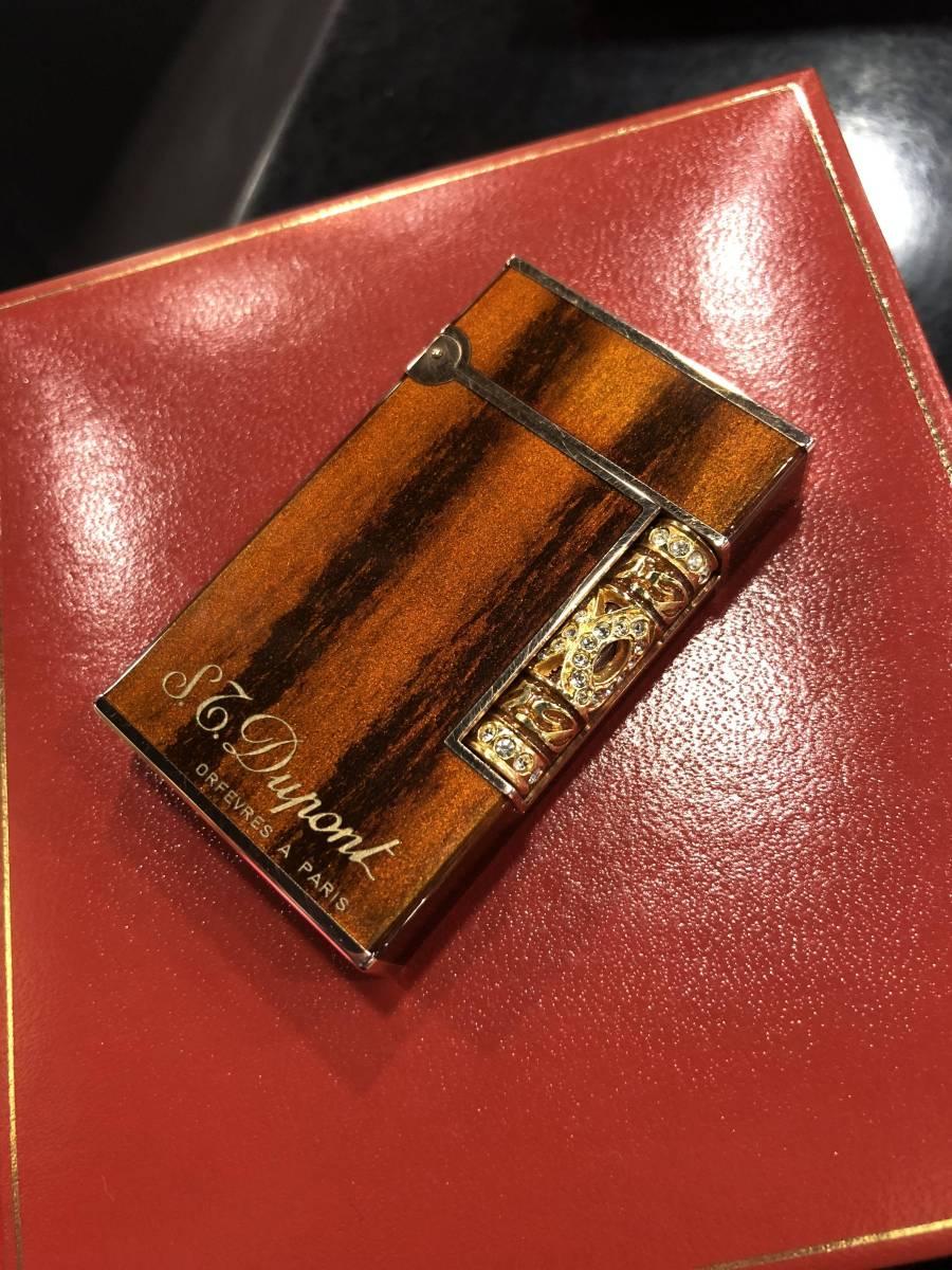 1円~ S.T.dupont ライン2 木目 装飾ローラー ピンクゴールド 超希少 デュポン ライター かなりいい音出ます!! 極美!!