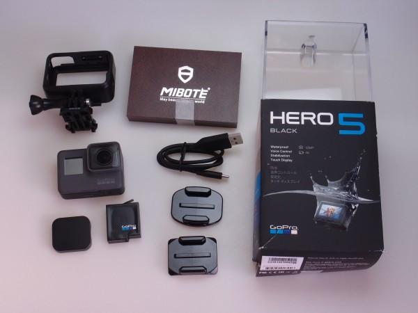 GoPro HERO5 Black CHDHX-502 ウェアラブル アクションカメラ 4k 動画 手ぶれ補正 タッチディスプレイ 空撮にも 送料無料