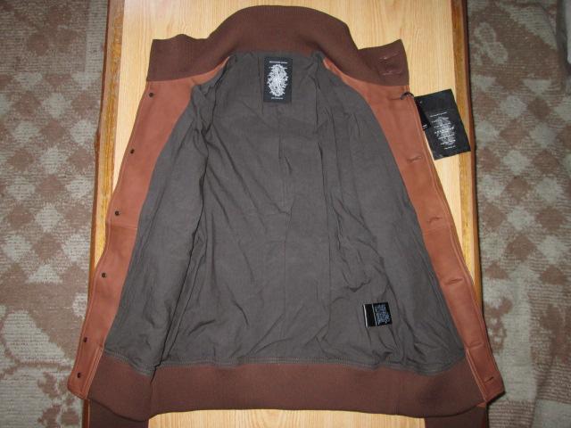 新品 ACANTHUS 79800円 バルスター 鹿革 アカンサス レザー S ディアスキン ジャケット ブルゾン A-1_画像3