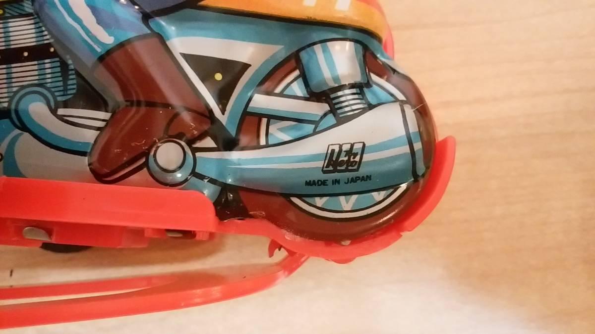 昭和40年代・超レア◆ヨコタ/ゼンマイ 宙返りオートバイ ブリキおもちゃ デッドストック品!! ⑦ 昭和レトロ_日本製
