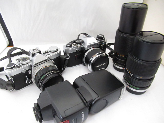91☆オリンパス M-1 50mm 1.4/OM SYSTEM S ZUIKO AUTO ZOOM 100-200mm 1:5/75-150mm 1:4/OM10 50mm 1.8/FL-40 ジャンク扱