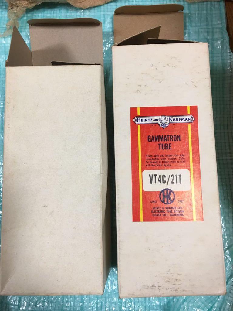真空管 VT4C/211 2個 片方の箱だけ赤いシールが貼ってあります。画像の通りになります。