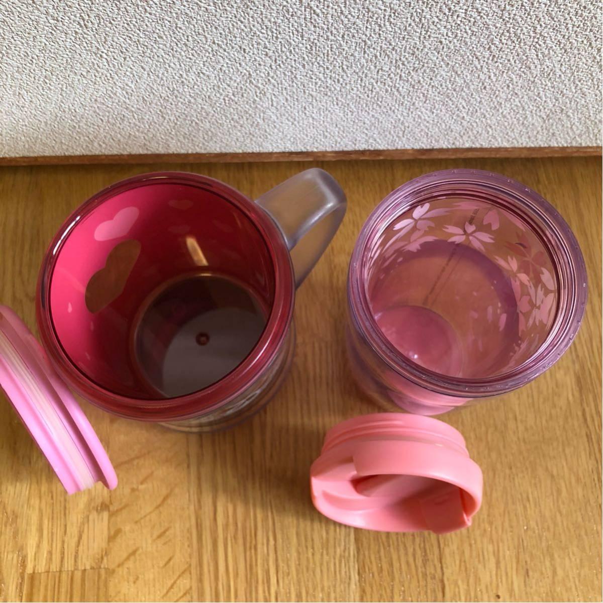 送料込み★スターバックス タンブラー&コーヒーカップ★SAKURA ピンクハート★_画像4