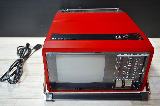 ♪♪20【激レア】蔵出し品FAIR MATE EA-6000 ポータブルテレビ ラジオ 昭和レトロ アンティーク ジャンク♪♪