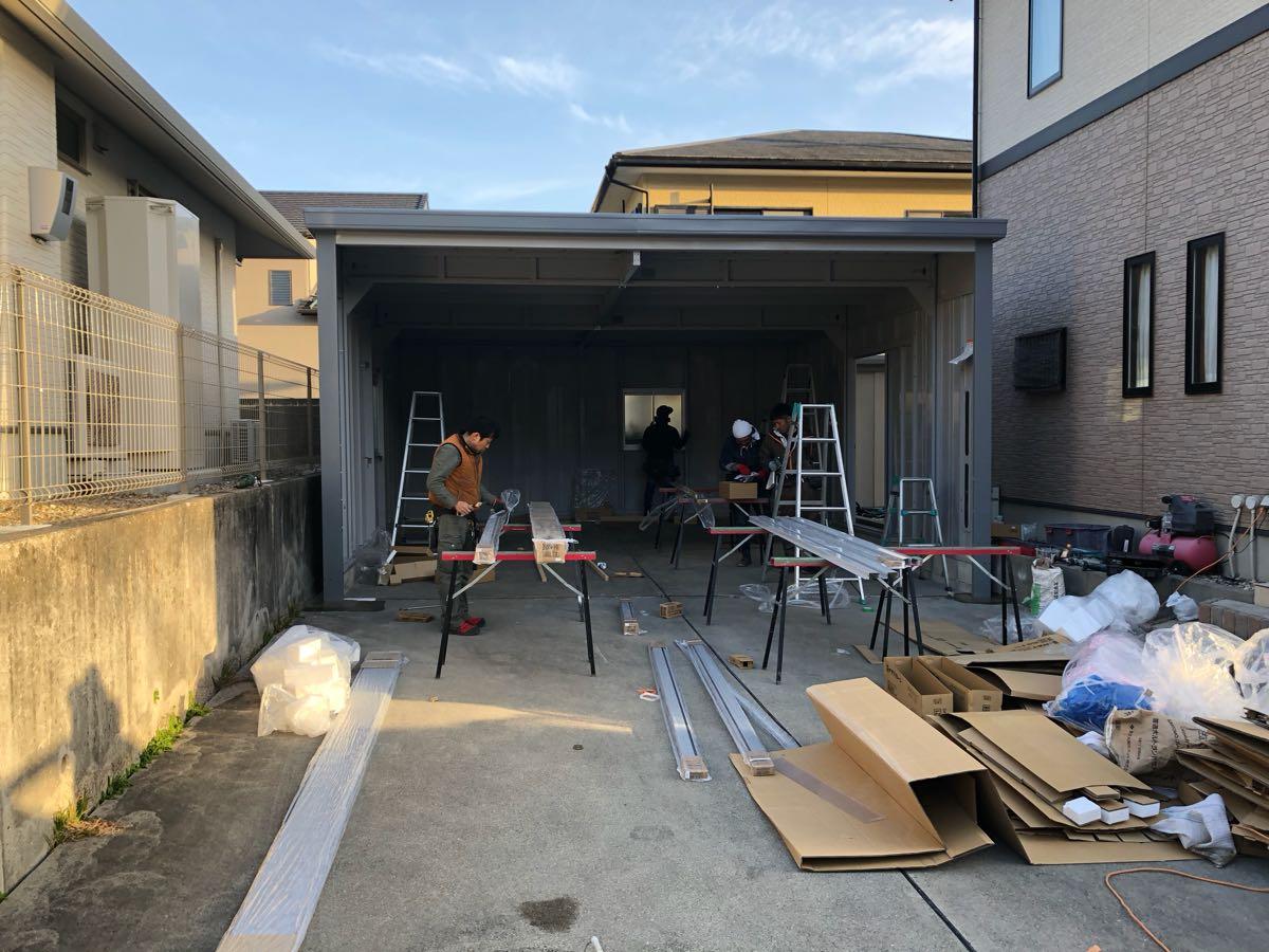イナバ物置 ブローディア BRK 5764J既存土間コンクリート上安心施工パック全て込み込み。愛知県、岐阜県、三重県etc._画像9