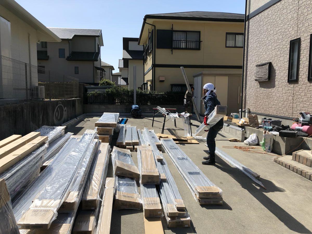 イナバ物置 ブローディア BRK 5764J既存土間コンクリート上安心施工パック全て込み込み。愛知県、岐阜県、三重県etc._画像10