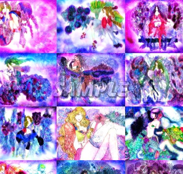 2L判 多種美女 オリジナルイラストアート絵カラー光沢CG 28枚 Various beauty originalart picture printing CG 28p_画像6