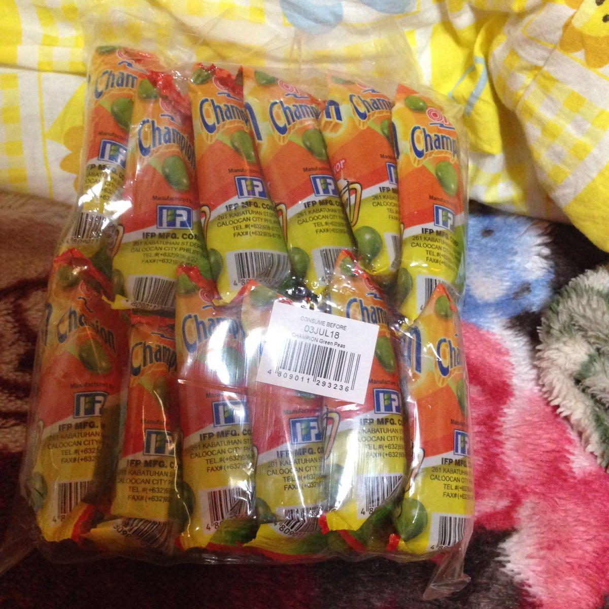フィリピン おつまみ菓子 Champion Green peas 12p入り お得!(◎_◎;)_画像4