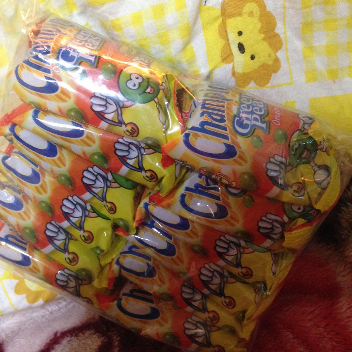 フィリピン おつまみ菓子 Champion Green peas 12p入り お得!(◎_◎;)_画像2