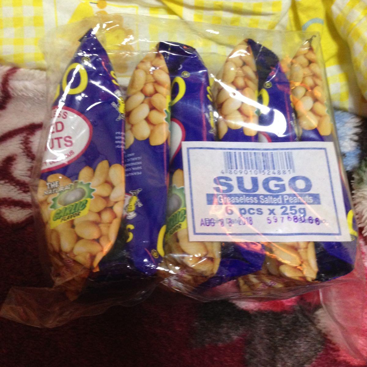 フィリピン おつまみ菓子 SUGO SALTED PEANUTS 6p入り お得!(◎_◎;)_画像2